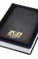 Diary 2021 hard cover, black